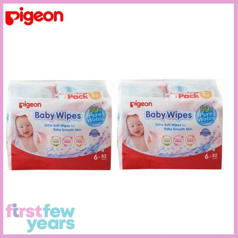Pigeon Baby Wipes – 99% Pure Water (12 X 82wipes) By First Few Years.