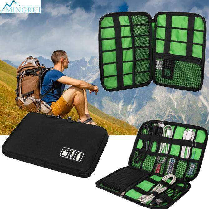 Outdoor Kit Nylon Waterproof Cable Holder Camping Hiking Organizer Bag By Mingrui.