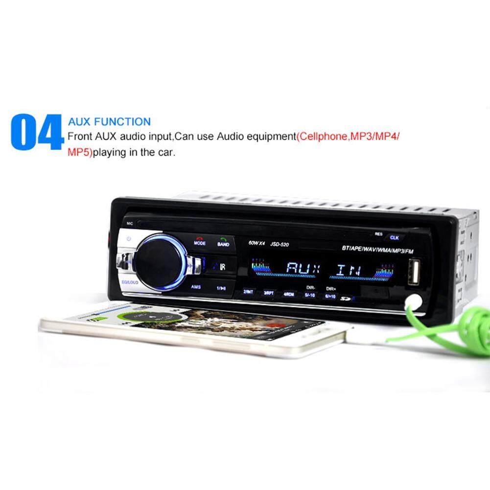 HiQueen Bluetooth Car MP3 Player Audio Stereo 4X60W Car Radio 12V In-dash 1  Din FM Aux Input Receiver