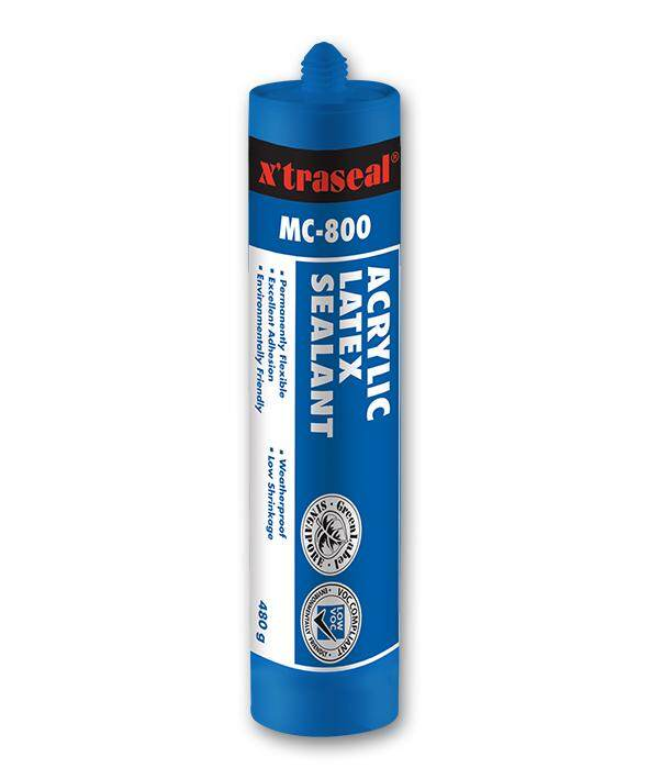 Xtraseal MC-800 Acrylic Latex Sealant 480g (White) Xtraseal Silicone Tanah Water Base