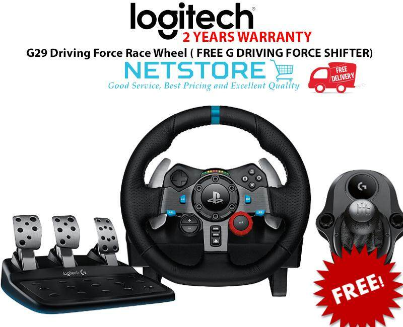 Logitech G29 Driving Force Race Wheel FREE G Driving Force Shifter - for  PC, PS3 & PS4