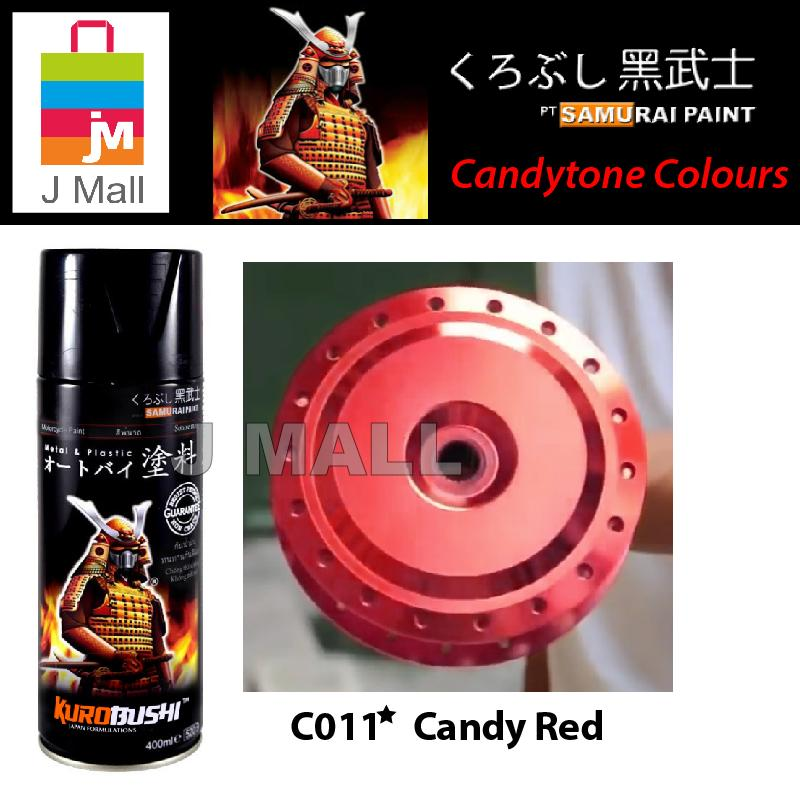 Samurai Spray Paint Candytone Colours 400ml - ( Candy Red / Blue / Yellow / Green )