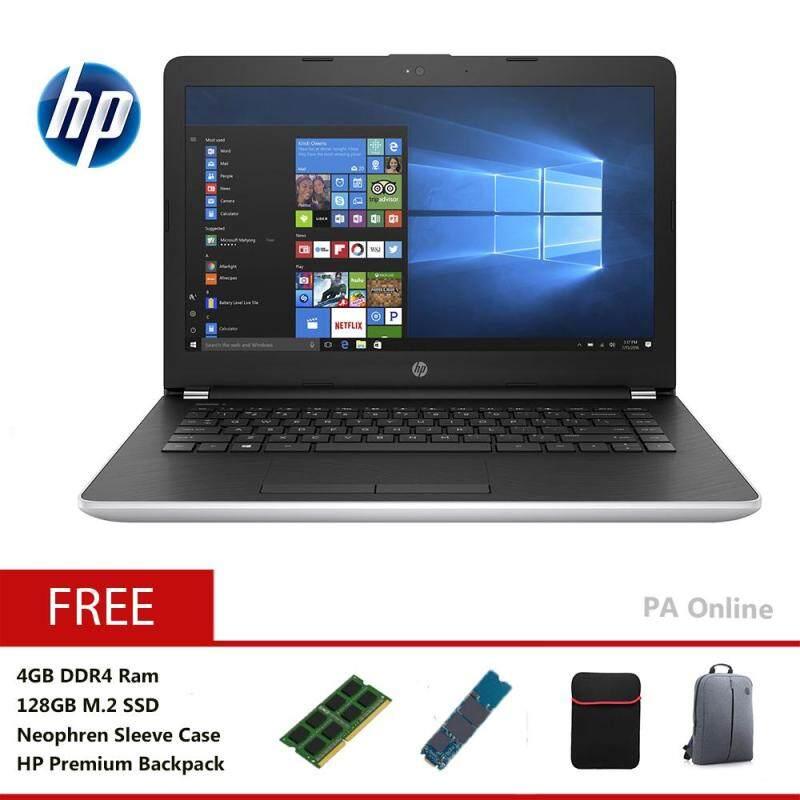 HP 14-BS726TU -128GB SSD- Intel Core i3-7020U/8GB DDR4/128GB + 1TB/14 HD LED/Win 10/1 Year Malaysia