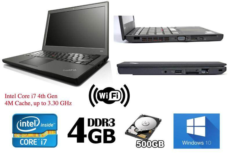 Refurbished Lenovo Thinkpad X240 Ultrabook (i7 4th Gen 2.1Ghz up to 3.30Ghz / 4GB RAM / 500GB HDD / Win7 COA / Win 10 Pro / Bag) (3 Month Warranty for Laptop & 1 Month Warranty for Battery and Adaptor) Used Laptop Notebook Malaysia