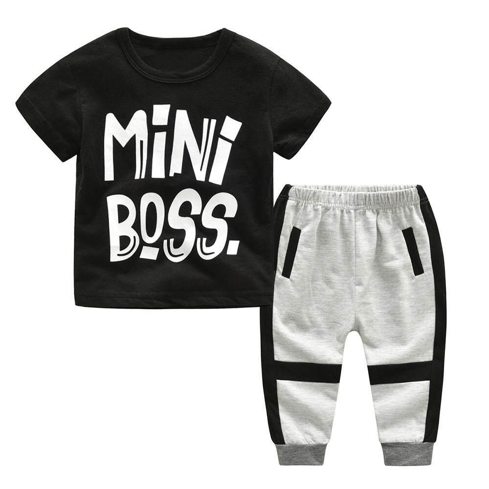 Ormondshop Toddler Kids Boys Girls Letter Print T Shirt Tops+camouflage Pants Outfits Set By Ormondshop.