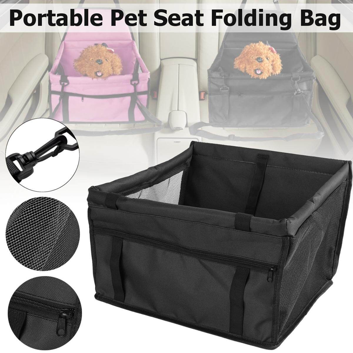 Portable Pet Car Seat Folding Travel Booster Bag Safely Carrier Belt Dog Puppy (black) By Freebang.