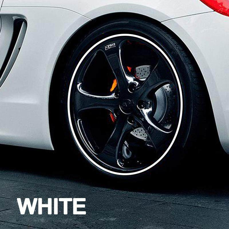 White Universal Car Wheel Hub Decorative Protection Ring Wheel Hub Stripe Automobile Decoration Scratch Prevention Premium Rim Protector Hub Trim By Gallop Shop.