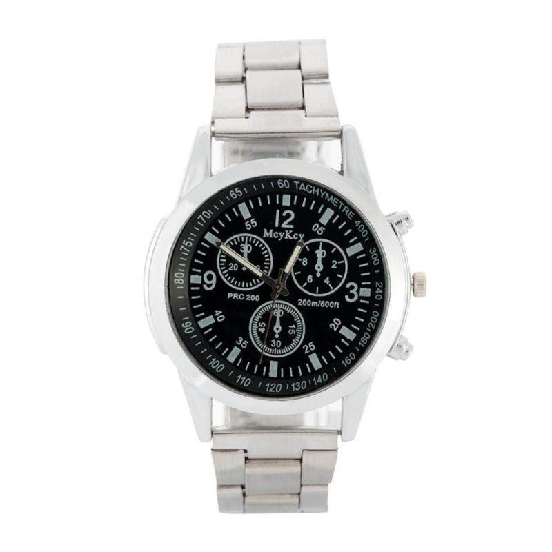 2 Types Men Male Analog Electronic Watch Alloy Strap Round Case Wristwatch Malaysia