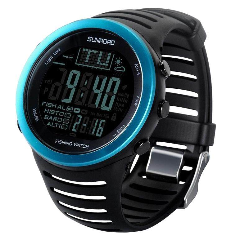 SunRoad FR720 5ATM Waterproof Digital Sport Watch Stopwatchs/Altimeter/Barometer for Outdoor Fishing,Climbing (Blue) Malaysia