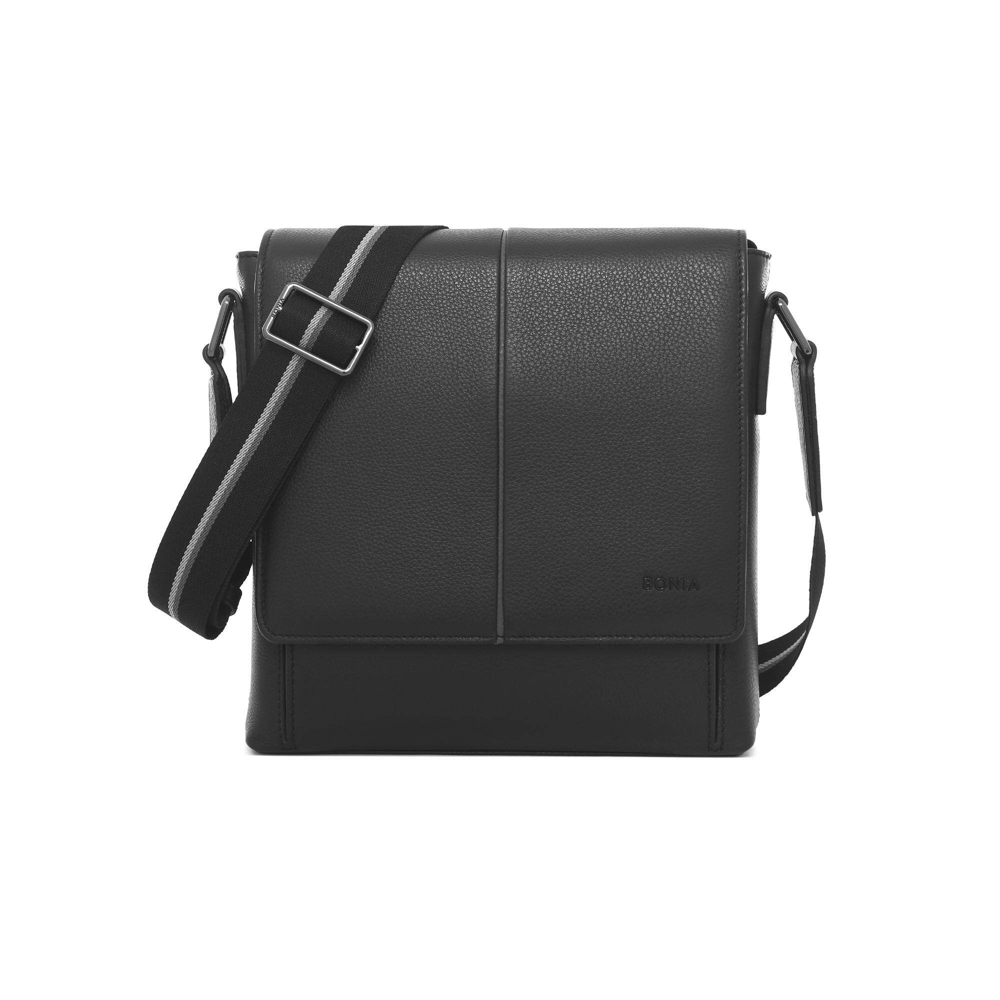 Bonia Black Riley Crossbody Bag M