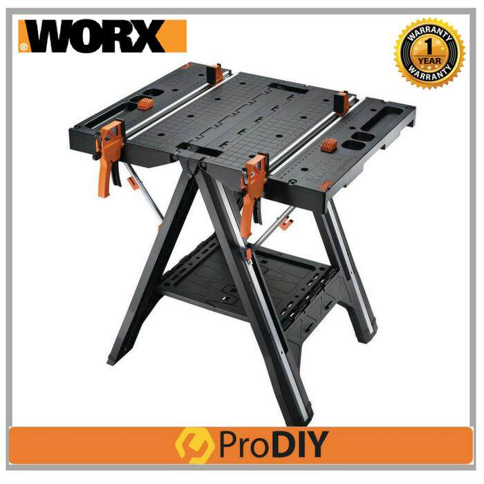 WORX WX051 Pegasus Folding Work Table & Sawhorse with Quick Clamps