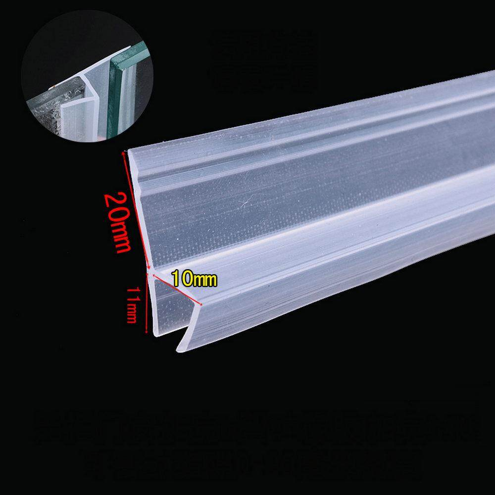 Door Window Weather Strip for 10mm Thick Glass Balcony Shower Screen Seals 3 Meters 20mm Wing h Transparent