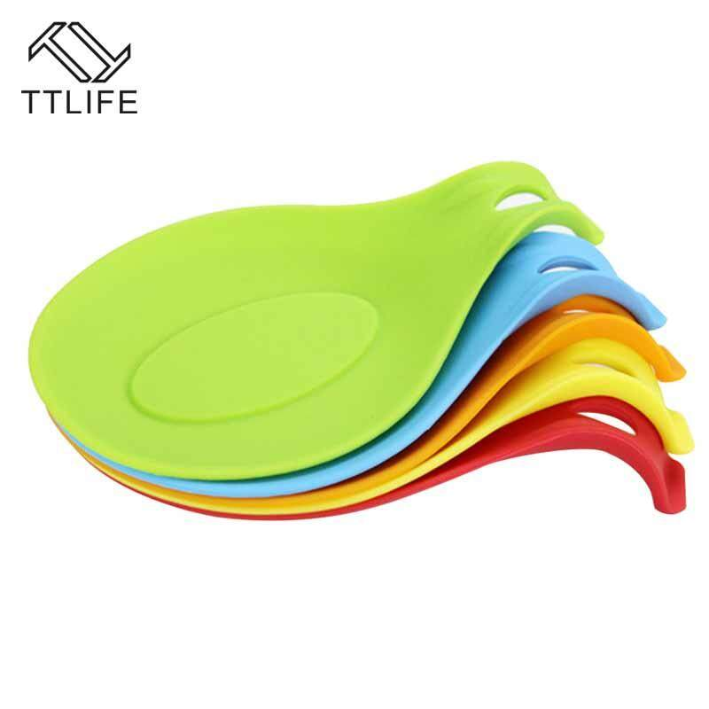 Ttlife 1pc Silicone Spoon Insulation Mat Heat Resistant Placemat Tray Spoon Pad Drink Glass Coaster Kitchen Gadget Random Color By Ttlife Fashion Zone.