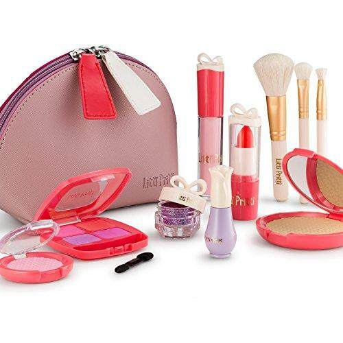 Litti Pritti Pretend Makeup For Girls - 11 Piece Play Makeup Set- Realistic  Toys Makeup Set For Girls By Cross Border