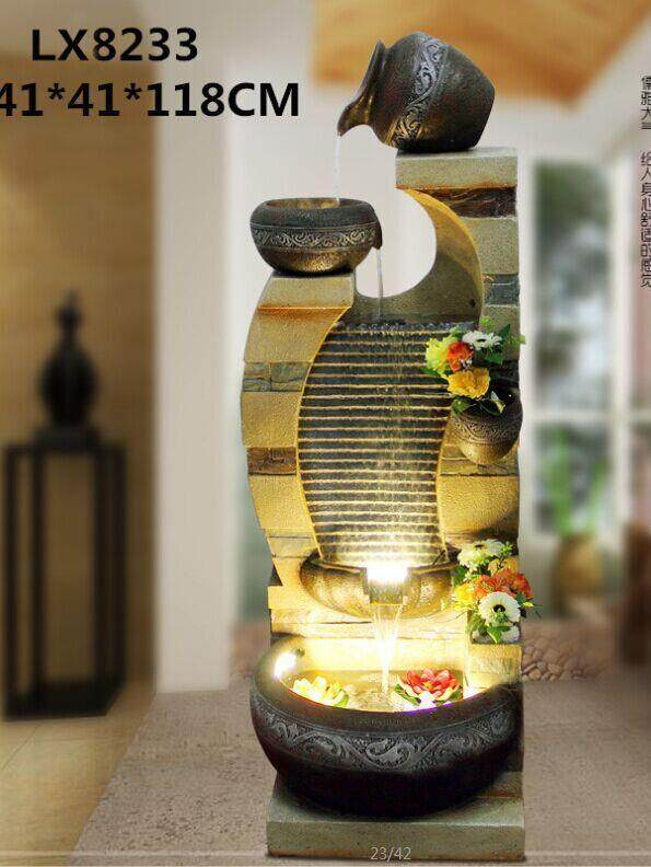 WATER FOUNTAIN - LX8233 WATER FEATURE FENG SHUI HOME DECORATION