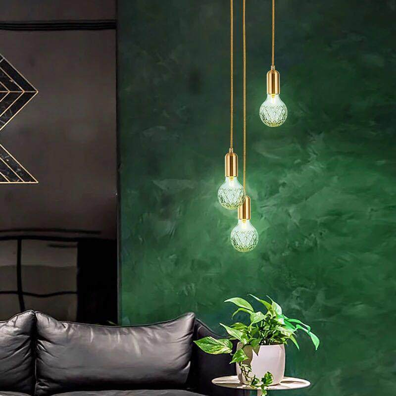 Smart Nordic Modern Designer Living Room Glass Hanging Lamps Fashion Simple Bedroom Bedside G9 Led Chandelier Lighting Fixture Ceiling Lights & Fans