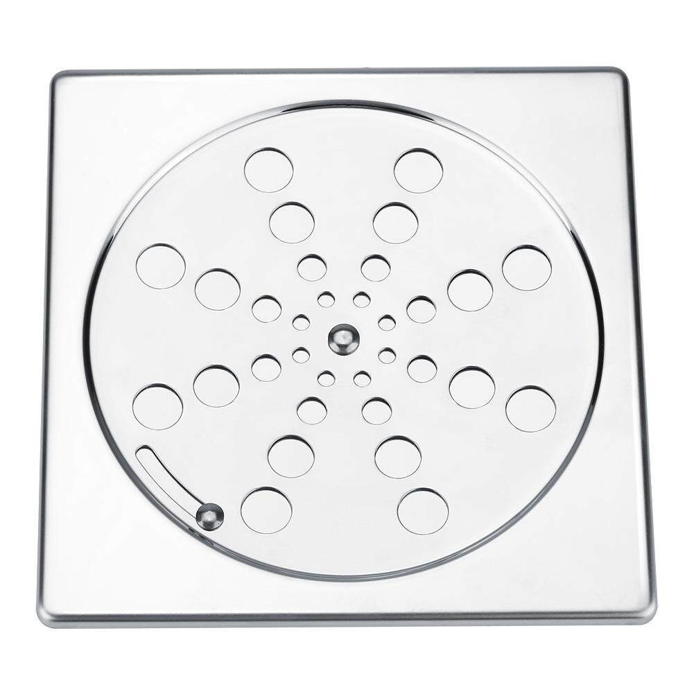 304 Stainless Steel Double-layers Flower-shaped Heavy Duty Rotatable Floor Waste Drain for Home Bathroom Shower Balcony