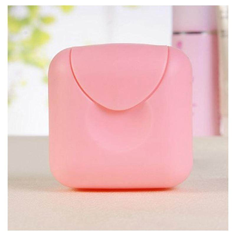 2 Pcs Small Size Plastic Soap Case Holder Container Box Home Outdoor Hiking Camping Travel 2.75 2.75 1.65 inch Pink