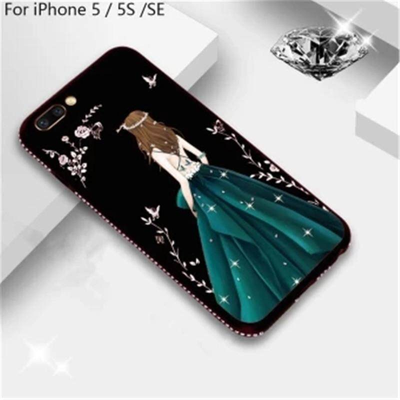 3d Goddess Painted Glitter Rhinestone Soft Tpu Case Cover Housing For Apple Iphone 5/5s By Shenzhen Zhanhong Guangdian.
