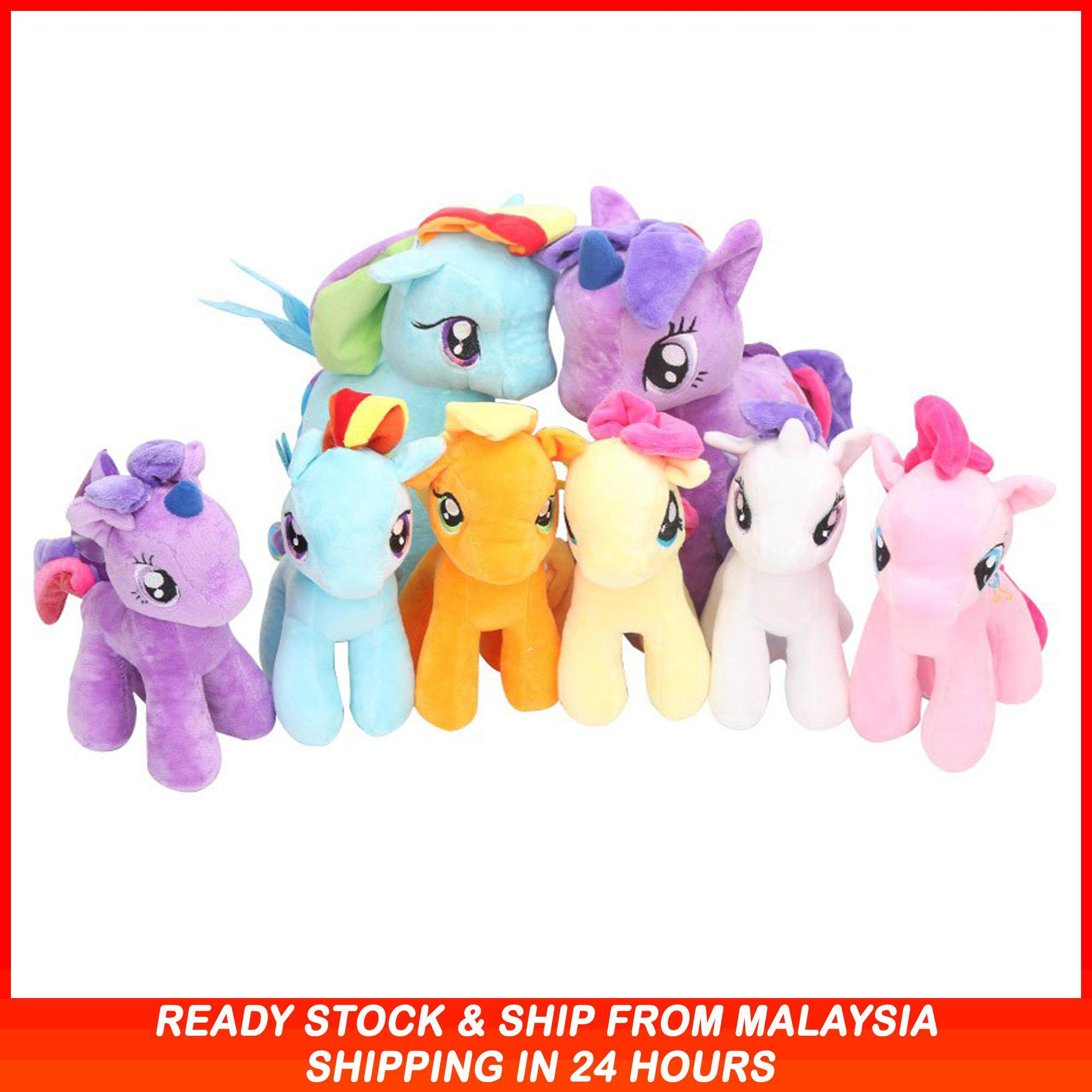 25cm My Little Pony Plush Toys Stuffed Toys Soft Toys Unicorn Horse For Kids Gift 6 Colours By Bizworld2u.