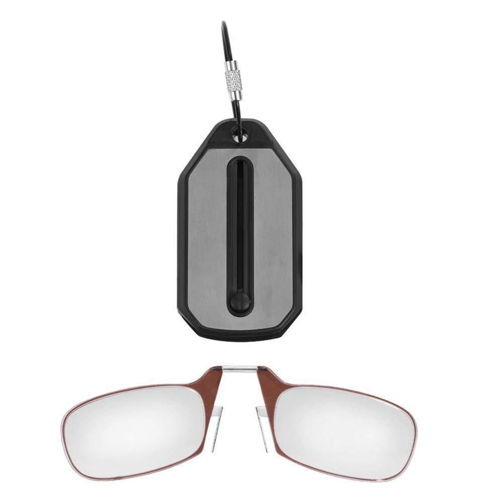 b572ffbded1 Portable Keychain Card Type Reading Glasses Presbyopic Glass Plus Full  Frame +100