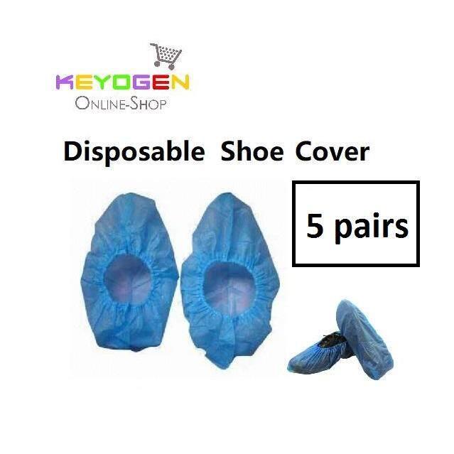 Shoe Covers 5 pairs keyogen Disposable Plastic Shoe Covers