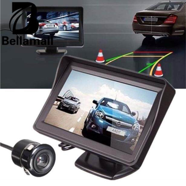 Lcd Car Auto Rear View Parking Mirror Monitor Night Vision Radar Black Camera By Bellamall