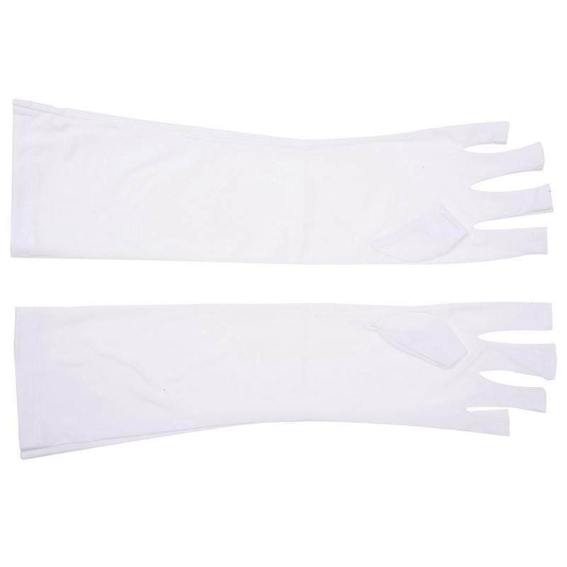 Pair Nail Art UV Gel Anti-ultraviolet Protection Open-toed Glove Beauty Cosmetic