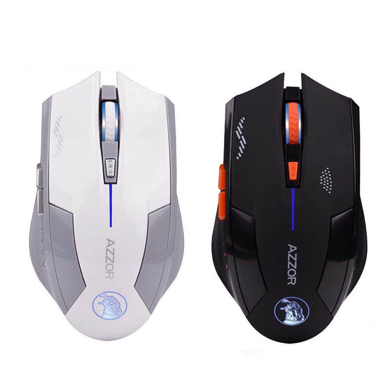 AZZOR Wireless 6D Rechargeable 2400DPI 6 Buttons Optical Pro Gaming Mouse For PC Malaysia