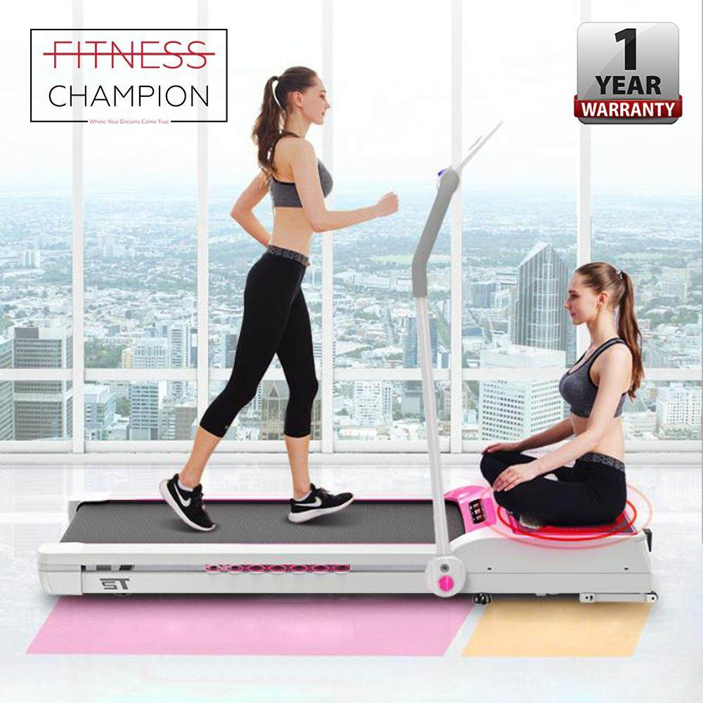 Fitchamp: Q2 Led Display Smart Control Silent Running Belt Electric Running Treadmill With Vibration Oil Burning Platform By Fitness Champion.