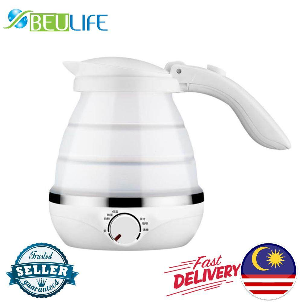 Collapsible Silicone Electric Kettle Collapsible For Travelling And Hotel Nsh0711 (white Color) By Beulife Store.