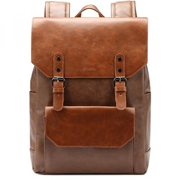 Laptop Backpack Knapsack Rucksack Daypack Bag Pu Leather for College Malaysia