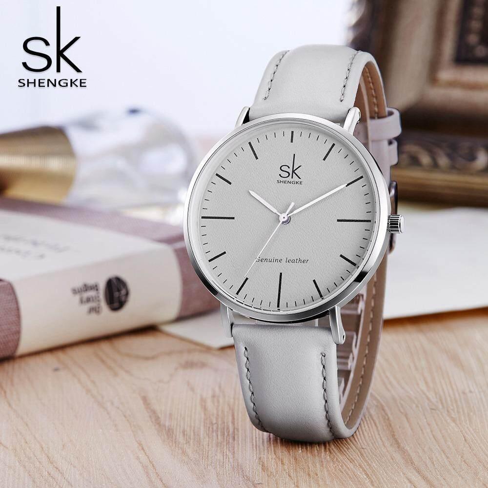SHENGKE leather watch for women fashion casual style gift for girl wristwatch Malaysia