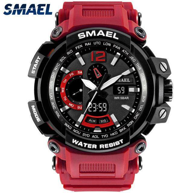 SMAEL Top Luxury Brand Watches Mens Fashion Casual Quartz Sport LED Digital Watch Men Waterproof Military Wrist Watch Malaysia