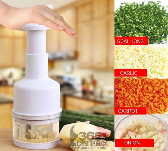 Mini Onion Garlic Vegetable Ginger Cut Chopper Cutter Kitchen Tool (white) By My Qq Shop.