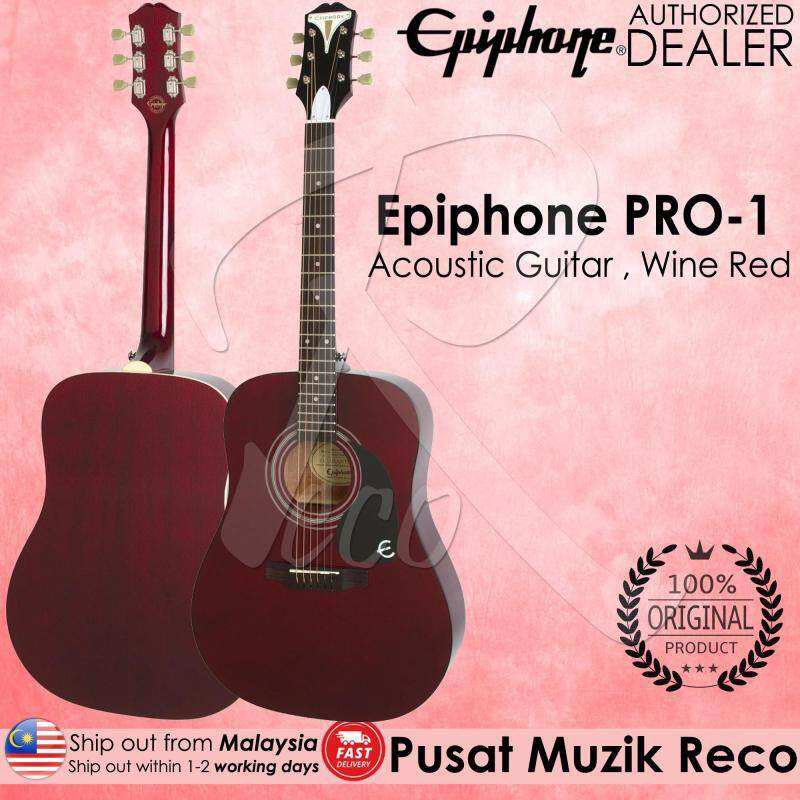 Epiphone PRO-1 WR Acoustic Guitar Wine Red Malaysia