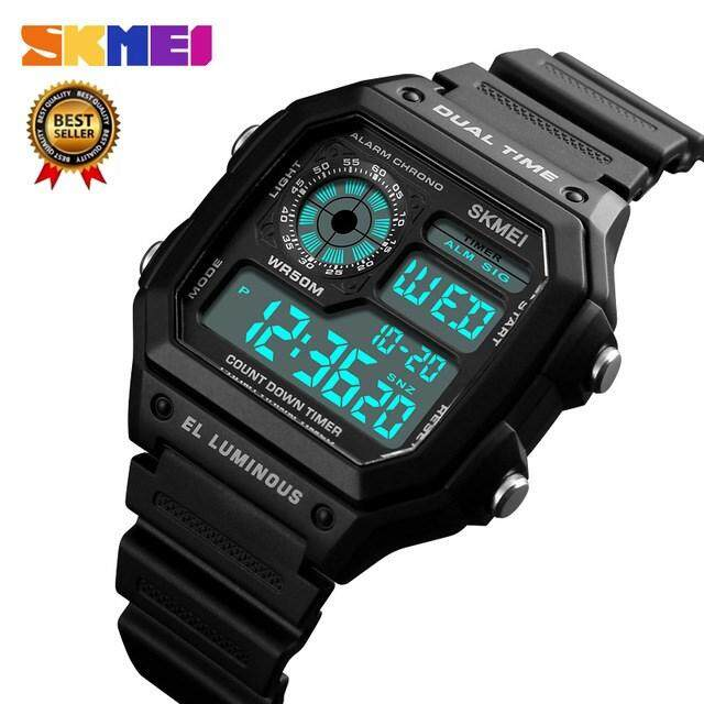 Genuine Sale SKMEI Fashion Sports Men s Top Brand Luxury Famous Casual LED  Digital Square Watch Men s ddbe542d02