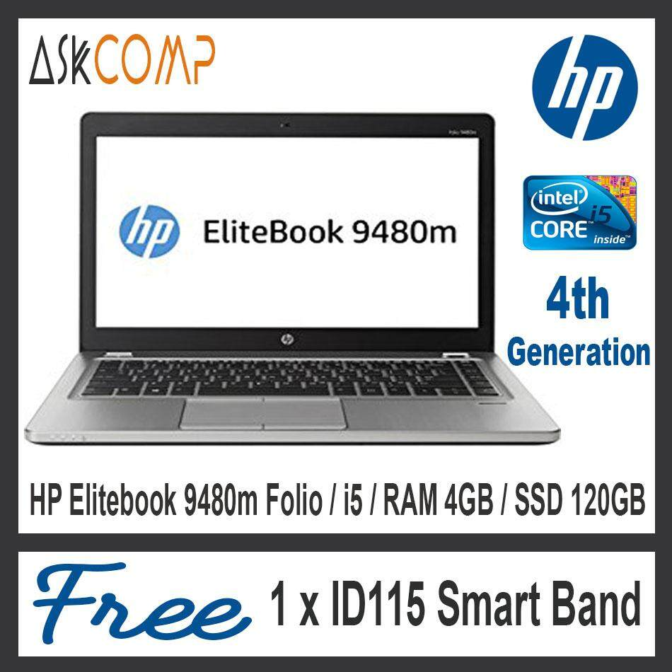 HP Elitebook Folio 9480m / RAM 4GB / SSD 120GB / 6 Month Warranty / Very Good Condition Malaysia
