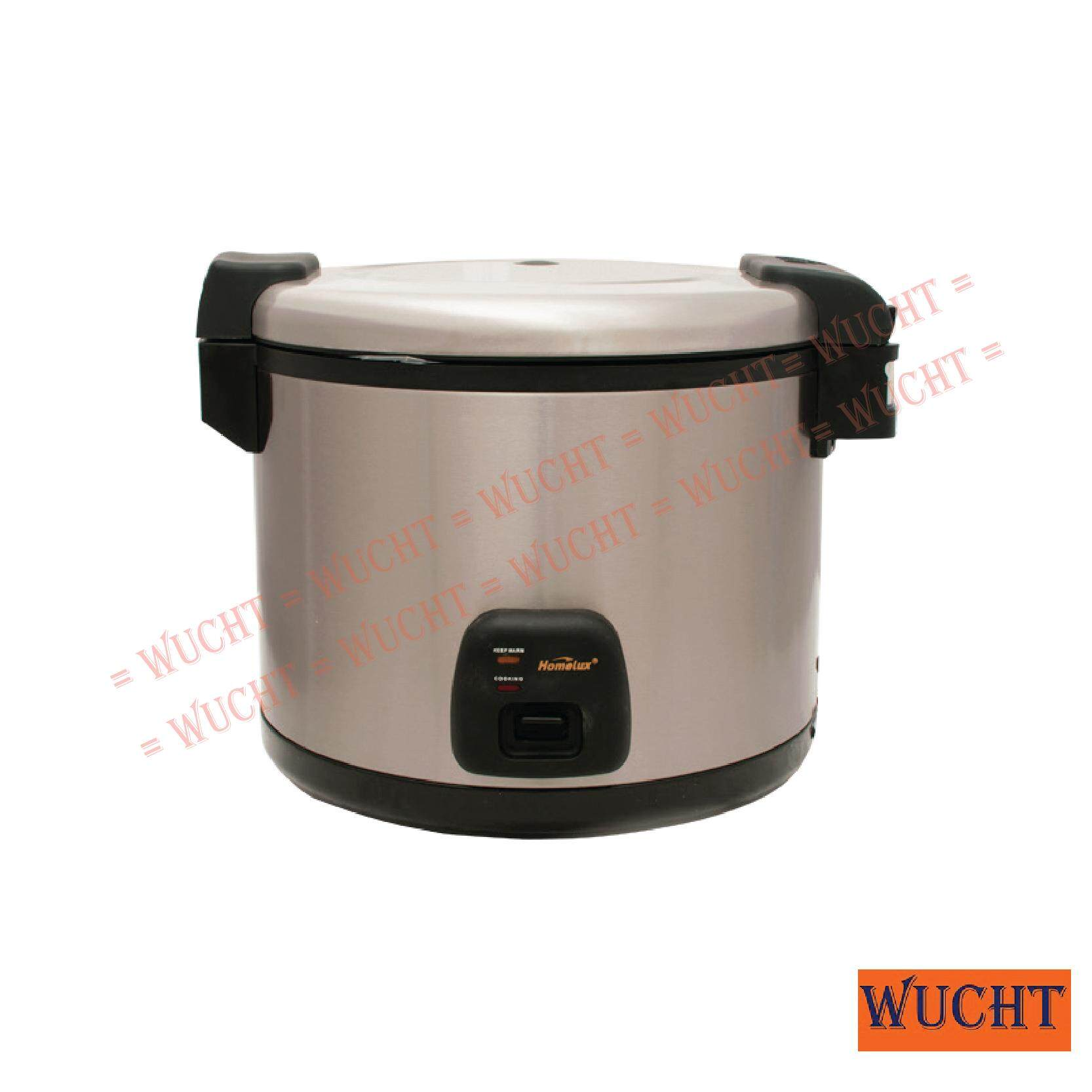 Homelux Commercial Electric Rice Cooker With Warmer With Hinged Cover - 30 Cups By Wucht.