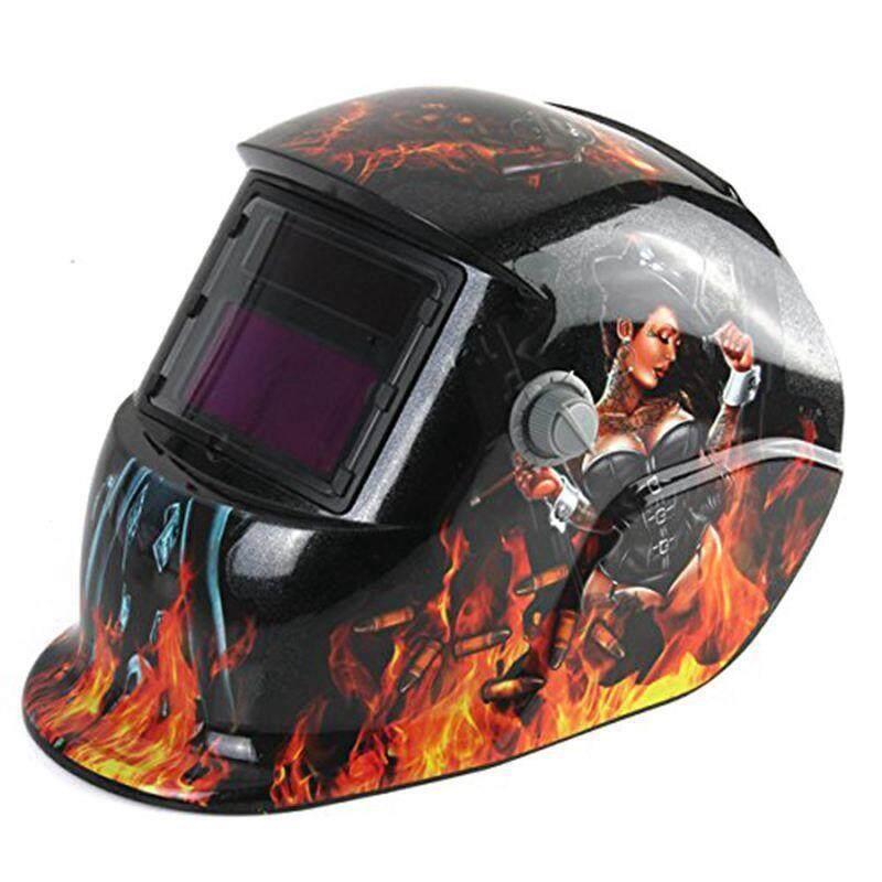 Welding Helmet Auto Darkening Solar Powered Weld/Grind Selectable Mask Protector for Arc Tig Mig Grinding Plasma Cutting