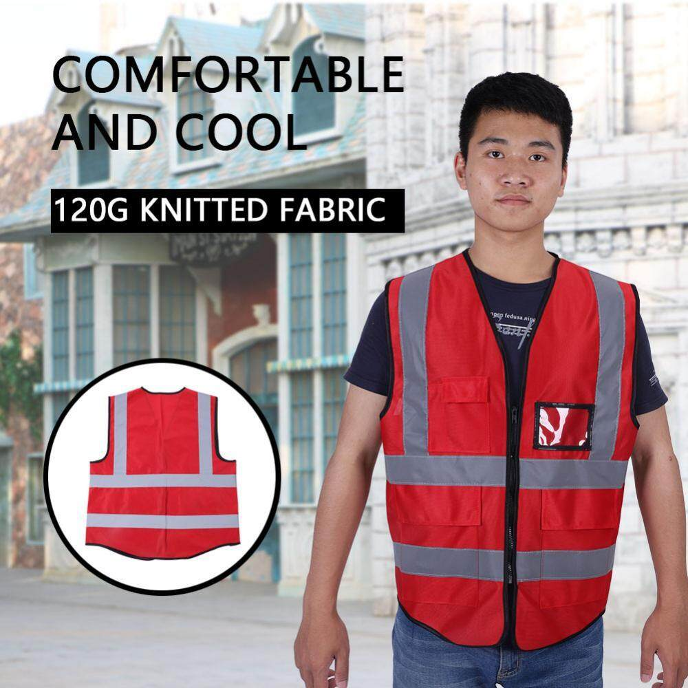 Qianmei New Multicolor Reflective Vest Safety Security Waistcoat