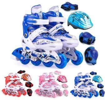 Harga yang baik Kids Rollerblade Inline Skate Gosome + Safety Gear +  Flashing Wheel Adjustable Shoe Kasut Roda kajian semula - Hanya RM62.04 8df88ce834