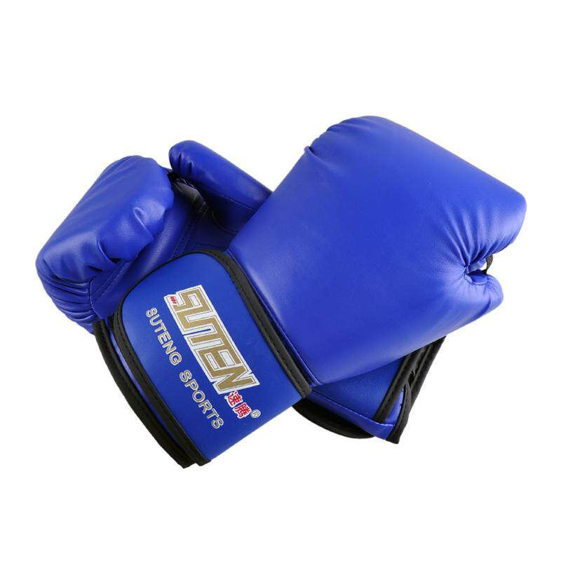 Suteng Pu Leather Sport Training Equipment Boxing Gloves(blue) By Greatbuy888.