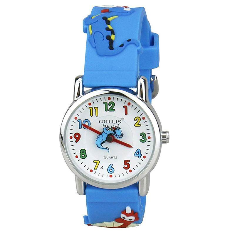 WILLIS Kids Time Teacher Watch Easy Read Quartz Watch with 3D Cartoon Soft Silicone Watch Band Comfortable for Children Malaysia