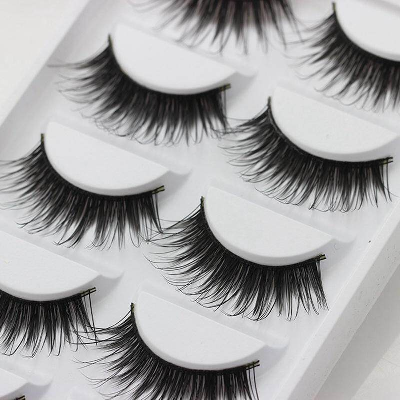 Bzy 5 Pairs Natural Thick Makeup False Eyelashes Long Handmade Eye Lashes Extension By Beautyzy.