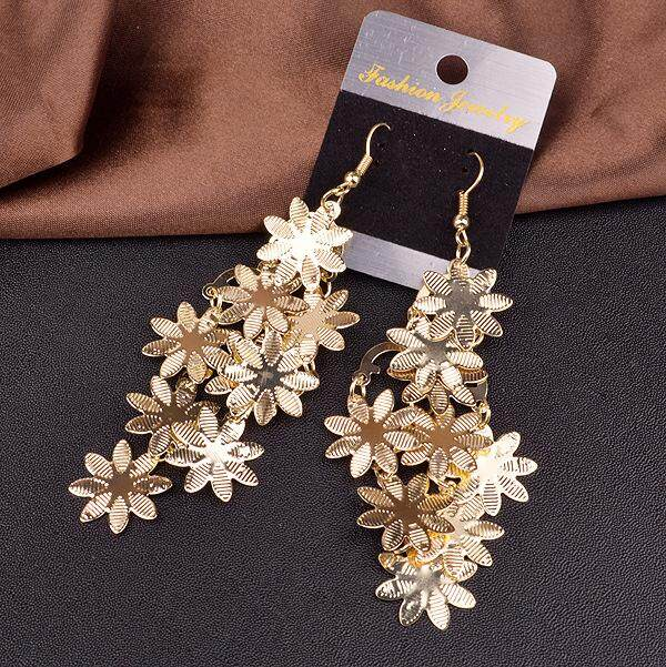 Big Sale Women Multi-Layer Snowflakes Pendant Earrings Fashionable Ice Flowers Eardrop Ear Decoration By Four Season Big Sale.