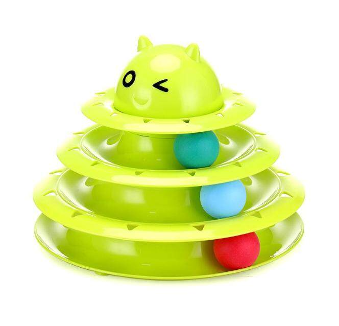 3 Layer Spinning Balls Cat Fun Tease Cat Toy By P A F Pet Store.