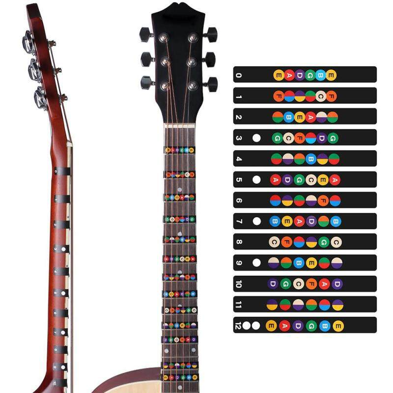 Big SaleColorful Guitar Fretboard Note Decal Beginners Fingerboard Sticker Label Map Frets Scale Malaysia