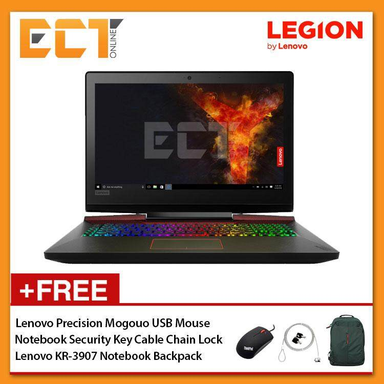 Lenovo Legion Y920-17IKB 80YW0030MJ Gaming Laptop (i7-7820HK 3.90GHz,2TB+256GB SSD,32GB,GTX1070-8G,17.3 FHD,W10) - Black Malaysia