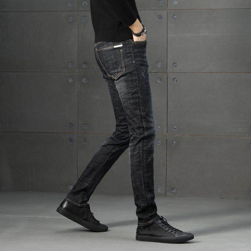 891009810d29 China. Autumn and Winter Men's Jeans New Fashion Men Casual Jeans Slim  Straight High Elasticity Middle Waist